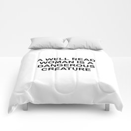 A well read woman Comforters