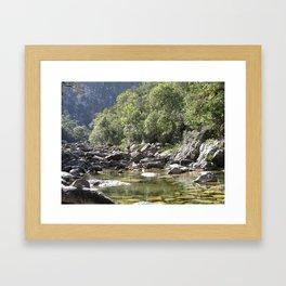 Casca d'Anta Waterfall, near the spring of São Francisco River. Framed Art Print