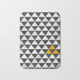 Triangle - Yellow III Bath Mat