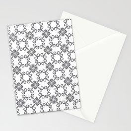 Grey Swirl Pattern Stationery Cards