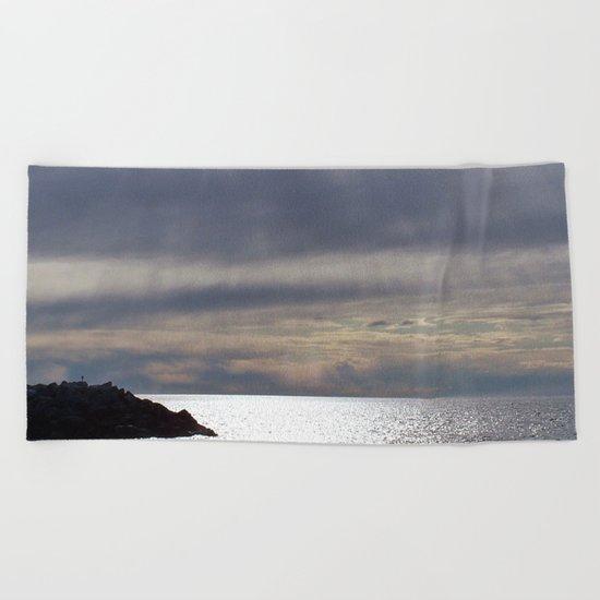 Raining Sunlight Beach Towel