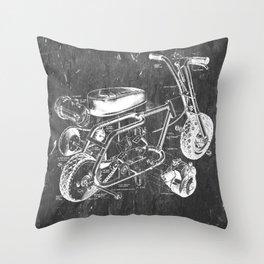Mini Bike Throw Pillow