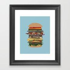 Burger Stack Framed Art Print