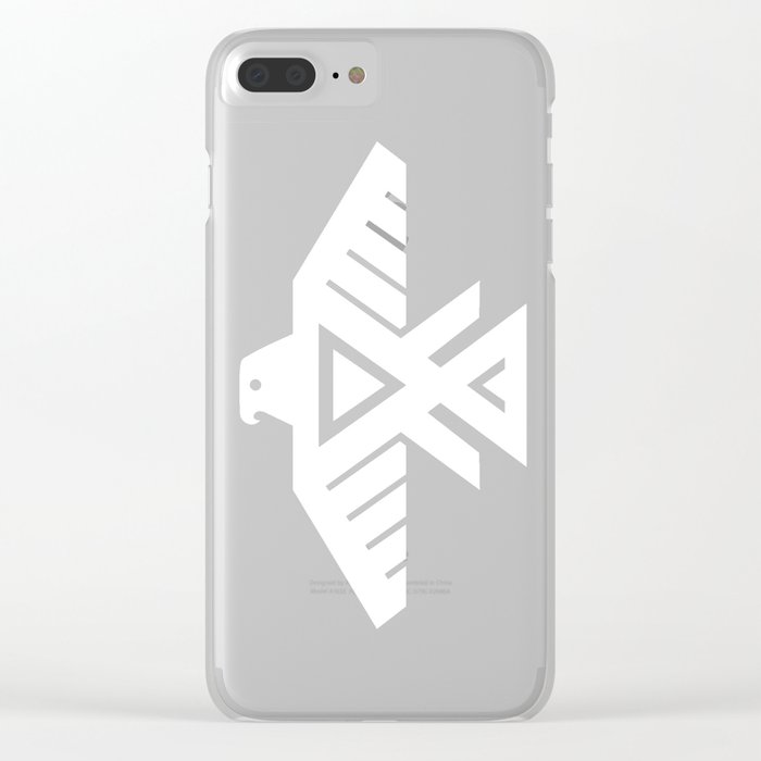 Thunderbird flag - Inverse edition version Clear iPhone Case