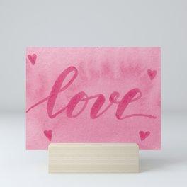 Valentine's Day Watercolor Love – pink Mini Art Print