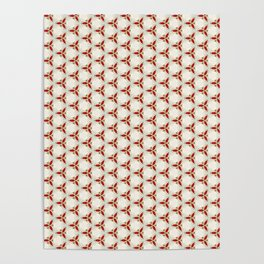 Three red pattern Poster