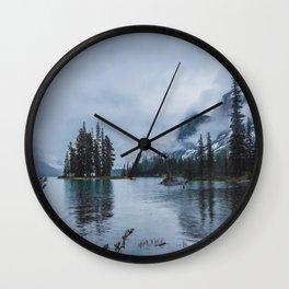Fairy Tale Landscape Maligne Lake Alberta Canada Wall Clock
