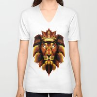 the lion king V-neck T-shirts featuring Lion King by Mart Biemans