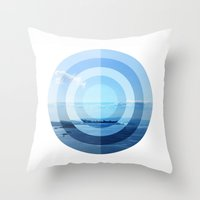 oslo Throw Pillows featuring OSLO by Hana Savana