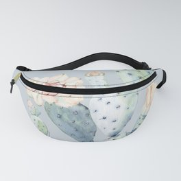 Prettiest Rose Cactus Blue Fanny Pack