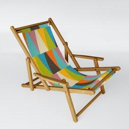Retro Color Block Triangle Color Fun Sling Chair