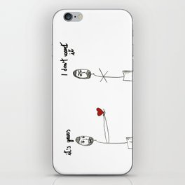My heart is yours iPhone Skin