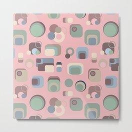 Retro Floppy Disk (Pink) Metal Print