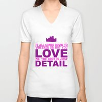 downton abbey V-neck T-shirts featuring Downton Abbey (Branson) by Park is Park