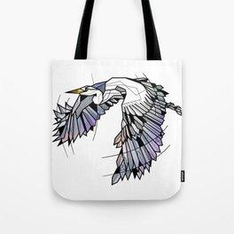 Heron Geometric Bird Tote Bag