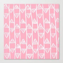 Pink Pyramids Pattern Canvas Print