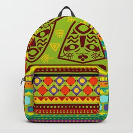 African Abstract Pattern Backpack