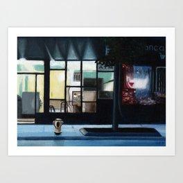 Riverside Storefronts Art Print