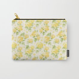 Modern  sunshine yellow green hortensia flowers Carry-All Pouch