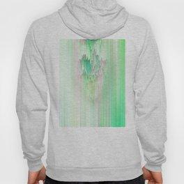 Abstract Cascade Glitch 1.Green Hoody