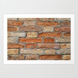 Venetian Bricks No 1 Art Print
