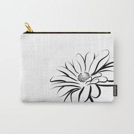 Gerbera Daisy Black & White Print 2 Carry-All Pouch
