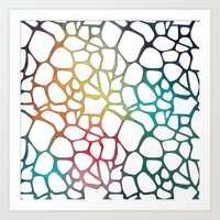 Abstract Net Art Print