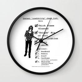 Instant Credibility Checklist: Male Wall Clock