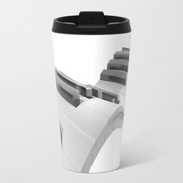 Keyboard of a piano waving on white background - 3D rendering Travel Mug