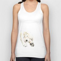 golden retriever Tank Tops featuring Golden Retriever Puppy Dog by Triple Studio