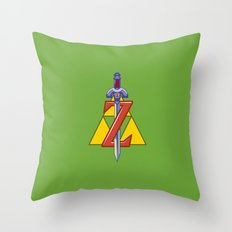 Zelda snes Throw Pillow