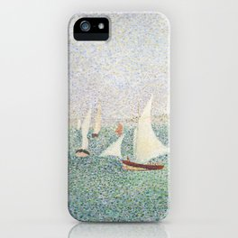 Entrance of The Port of Honfleur - Georges Seurat iPhone Case