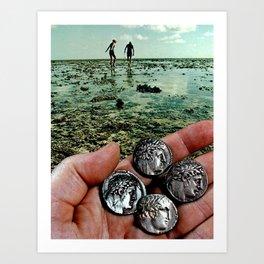 Hunting for treasure Art Print