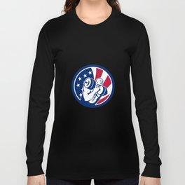 American Gym Circuit USA Flag Icon Long Sleeve T-shirt