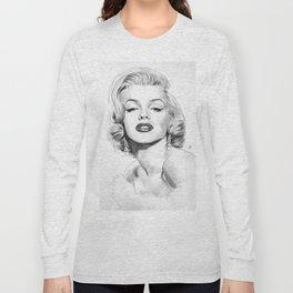 Marilyn Watercolor Portrait Long Sleeve T-shirt