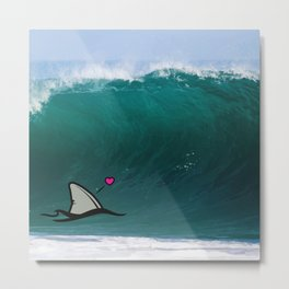 Shark-Filled Heart Metal Print