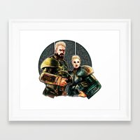 pacific rim Framed Art Prints featuring pacific rim by chazstity