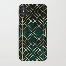 Dark Teal Geo iPhone Case