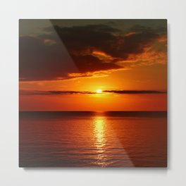 A  Beautiful Day´s End Metal Print