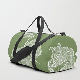 Cotton in Green Duffle Bag