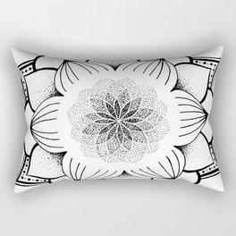 Mandala B&W I Rectangular Pillow
