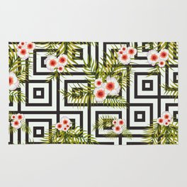 Geometric Jungle #society6 #decor #buyart Rug