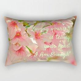 I Am Enough Rectangular Pillow