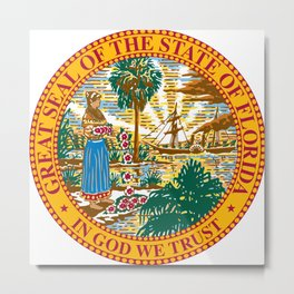 Great Seal Of The State Of Florida Metal Print