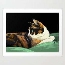 My lovely cat Art Print
