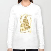 castiel Long Sleeve T-shirts featuring Castiel by Tracey Gurney