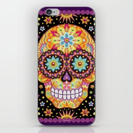 Sugar Skull Art by Thaneeya McArdle - Viva iPhone Skin