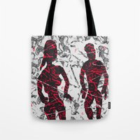 lost in translation Tote Bags featuring Lost in Translation by andréart