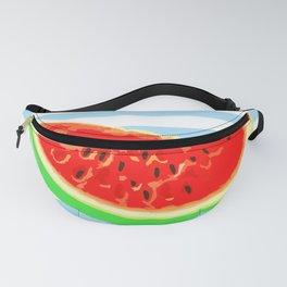Watermelon, Summer Poster, Summer T-Shirt, Summer colors, blue Fanny Pack