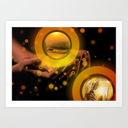Hand Energy by GEN Z Art Print